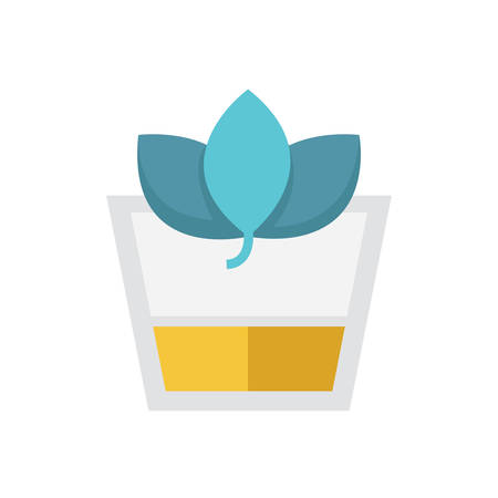 wheat grass: Flat Icon Herbal Drink icon