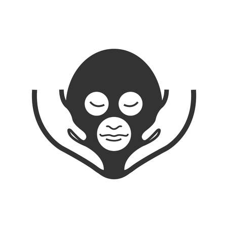 Bold Icon Face Massage Alternative medicine icon