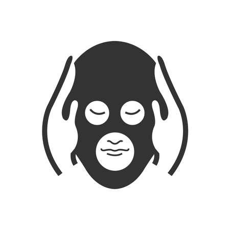 head massage: Bold Icon head massage icon Illustration