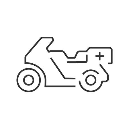 racer flag: line icon motorcycle ambulance design
