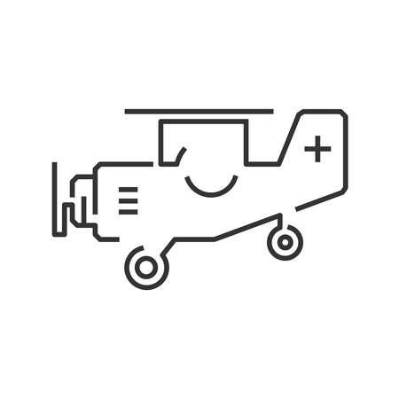 airplane ultralight: line icon ambulance small plane icon