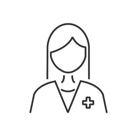 line icon doctor avatar, picture profile Illustration