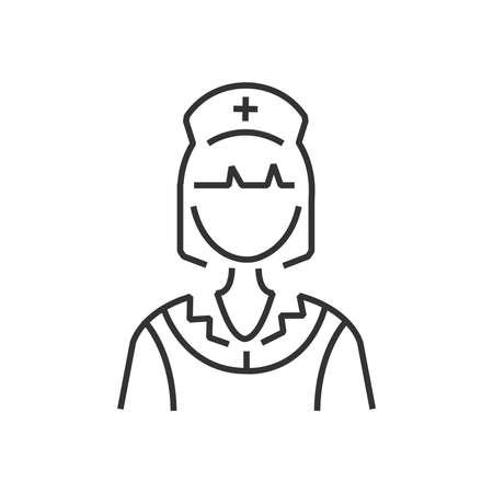 clothe: line icon nurse icon, old clothe style Illustration