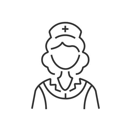 clothe: line icon design nurse icon, old clothe style