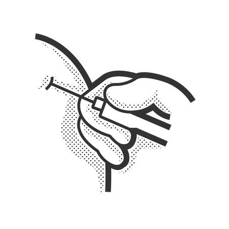 tetanus: Medical Patient icon, inject icon design