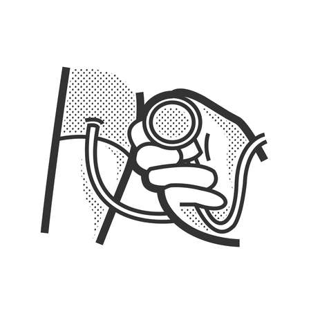 diastolic: Medical Patient icon, Pressure icon Illustration