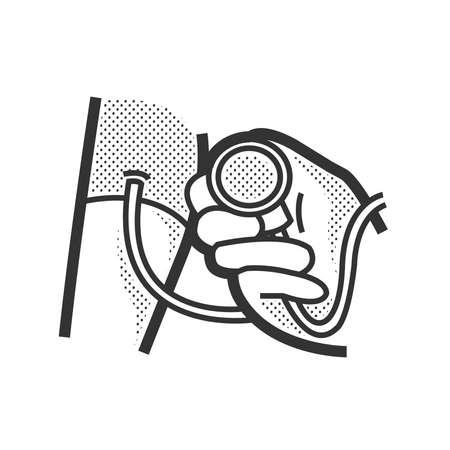 arterial: Medical Patient icon, Pressure icon Illustration
