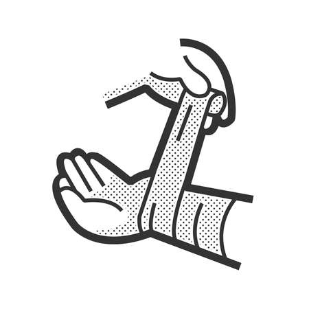 Medical Patient icon, Injury hand Illustration