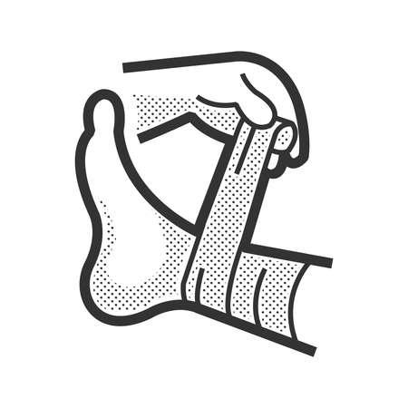 Medical Patient Symbol, Verletzung Bein Standard-Bild - 54765396