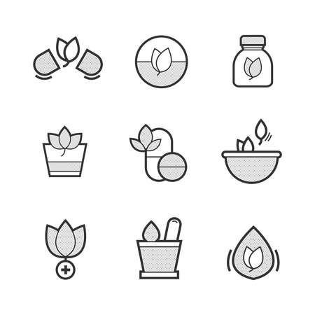 alternative medicine: Set of Alternative Medicine Icons