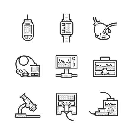 medical device: Medical Device Icon Set Illustration