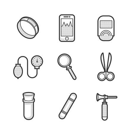testtube: Medical Basic Device Icon Set
