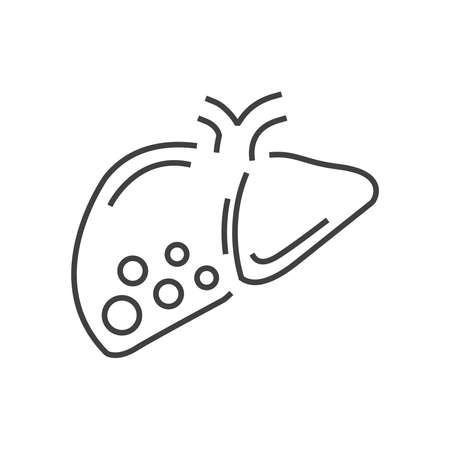 liver cancer: Line icon liver cancer icon