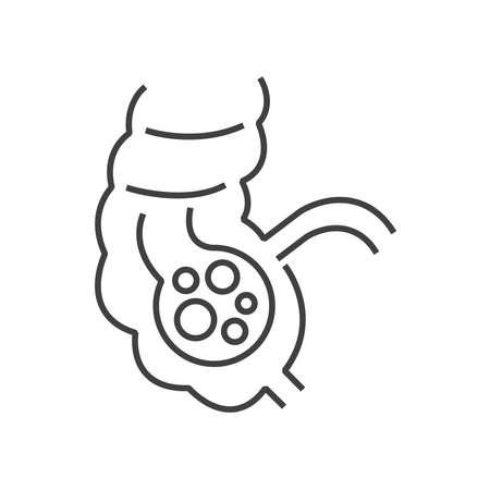 capillary: Line icon Colon cancer icon Illustration