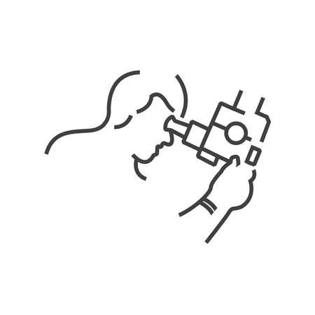 icon Doctor examination, endoscopic, line icon Style