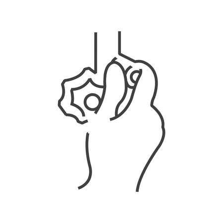 regulating: Icon Doctor examination, setting medical Tool, line icon Style Illustration