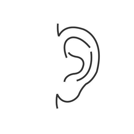 otolaryngology: Medical Doctors Otolaryngology ear icon, line icon Style