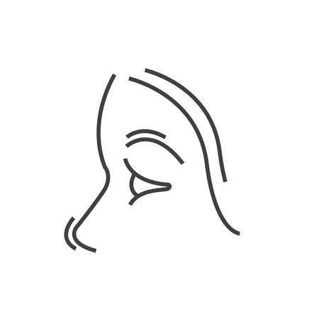 otolaryngology: nose, Medical Doctors Otolaryngology icon, line icon Style