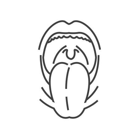 tonsillitis: Tonsillitis, Medical Doctors Otolaryngology icon, line icon Style