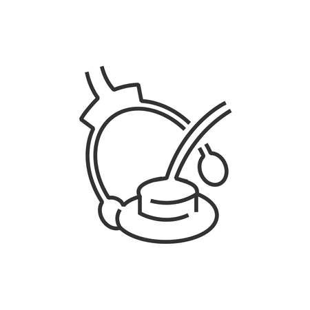 earphones: line icon Medical Device Icon, medical earphones