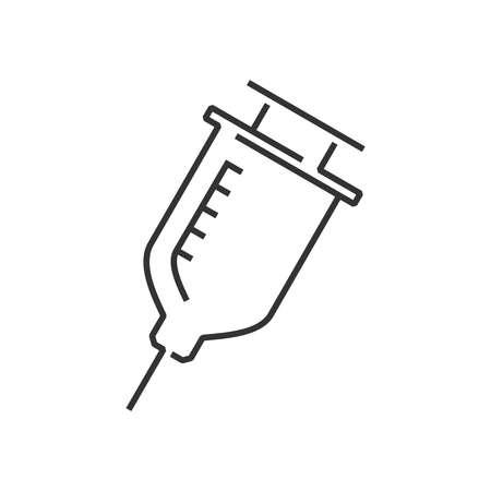 medical device: line icon Medical Device Icon, syringe cute design