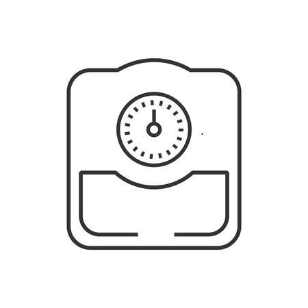 analog weight scale: line icon Medical Device Icon, Bathroom scales Illustration