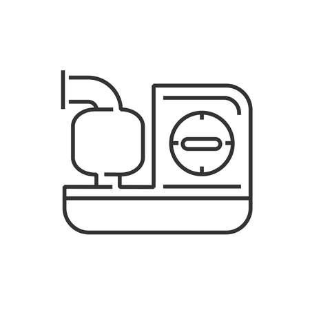 icono de la línea de dispositivos médicos Icono, máquinas Inhaler