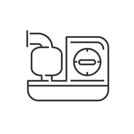 inhaler: line icon Medical Device Icon, Inhaler machines Illustration