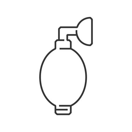 inhale: line icon Medical Device Icon, Oxygen Mask Illustration