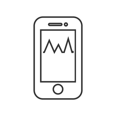 medical device: line icon Medical Device Icon, Check pressure On Mobile