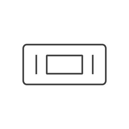medicare: line icons Medical Pharmacist, Bandage plaster icon
