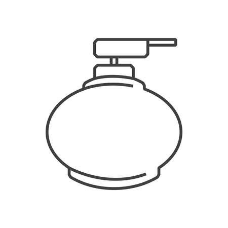 dollop: line icons Medical Pharmacist, liquid Hand wash icon Illustration
