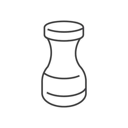 natural healing: line icons Medical Pharmacist, medicine bottles design Illustration