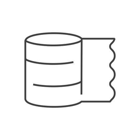 tensor: line icons Medical Pharmacist, bandage icon Illustration