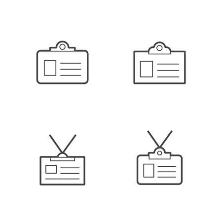 licence: business id card  Line  icon set Illustration