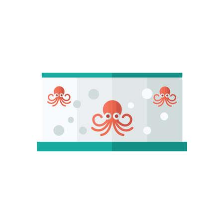 fish tank: Red Squid in fish tank
