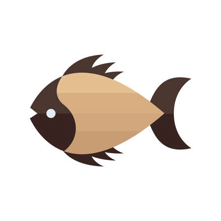 marinelife: Sea Fish Vector brown color Illustration