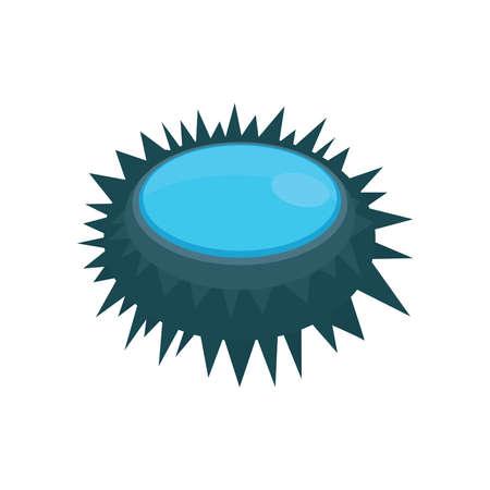 urchin: Illustration of a close up sea urchin blue Illustration