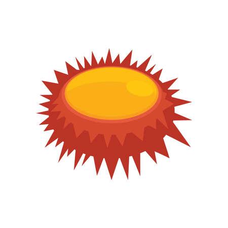 sea urchin: Illustration of a close up sea urchin orange