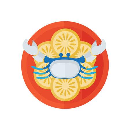 crab and salad vector