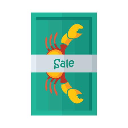 crab legs: design vector sale yellow crab Illustration