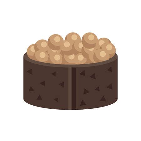 spawn: brown spawn sushi rolls Illustration