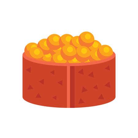 grasp: yellow spawn sushi rolls