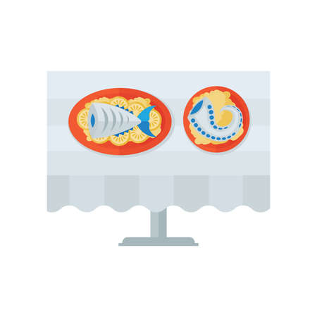 grilled salmon: sea food on desk