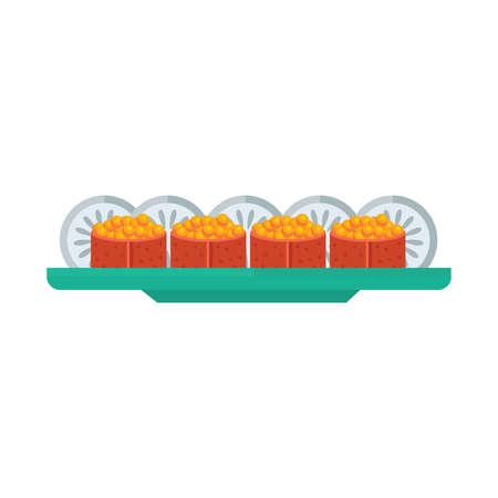 hold high: yellow spawn sushi rolls set