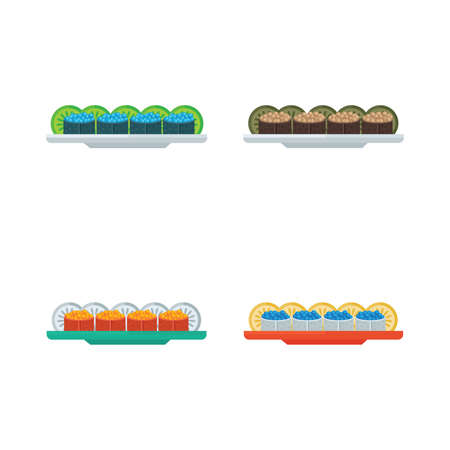 spawn: spawn sushi rolls set Illustration