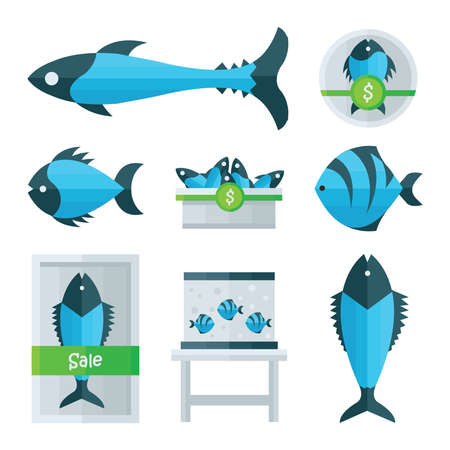 blue fish: blue Fish Vector infographic