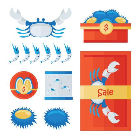 mariscos frescos infografía