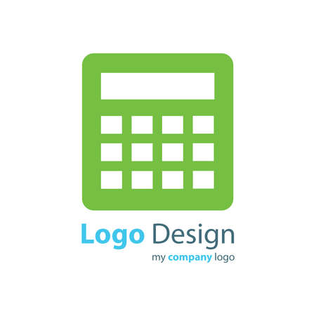 accounting logo: calculator logo vector green color