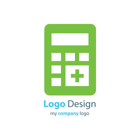accounting logo: calculator logo  green color
